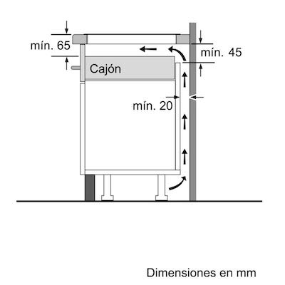 Medidas para placa balay
