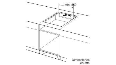 medidas instalacion placa de induccion